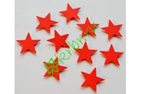 Декор на липучке Звездочки красные, 10 шт