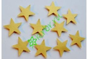 Декор на липучке Звездочки золото, 10 шт