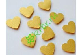 Декор на липучке Сердечки золото, 10 шт