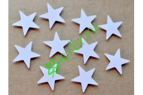 Декор на липучке Звездочки белые, 10 шт