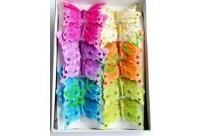 Бабочки декоративные с пайетками, шт