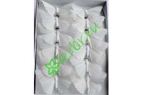 Бабочки декоративные белые, шт