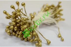 Тычинки двусторонние 3 мм, золото