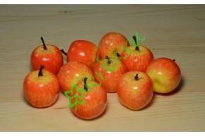 Яблочки красные с желтым, 10 шт.