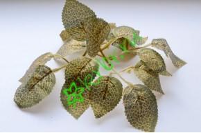 Листья розы, парча 4х5 см, 3 пары