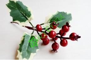 Ветка новогодняя с красными ягодами МС, шт