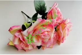 Букет роз кремово-розовый, шт