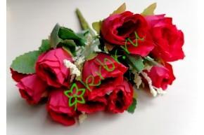 Розочки Боттичелли в букете красные