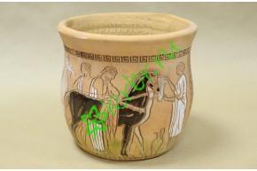 Кашпо керамическое античное