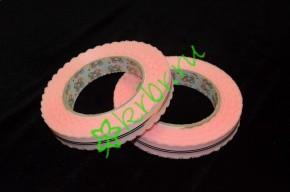 Лента кружевная розовая, 3 м