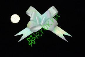 Бант бабочка с рисунком лиловый