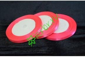 Лента атласная ярко-розовая 6 мм, метр