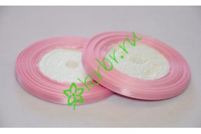 Лента атласная (3058) розово-сиреневая 6 мм, метр