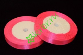 Лента атласная Ярко-розовая 12 мм, метр