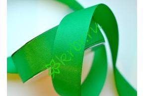 Лента репсовая зеленая, метр