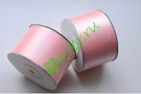 Лента атласная (8037) нежно-розовая 50 мм, метр