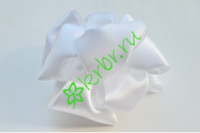 Бант-шар атласный, белый