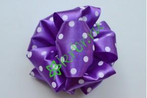Бант-шар атласный, горох фиолетовый
