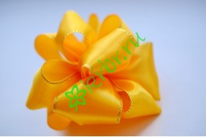 Бант-шар атласный с люрексом, золотой