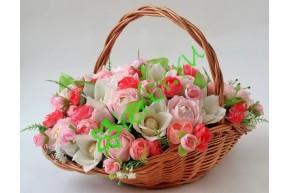 Гофрированная бумага 569, бледно-розовый