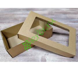 Подарочная коробка Крафт с окном 17х10х5 см, шт