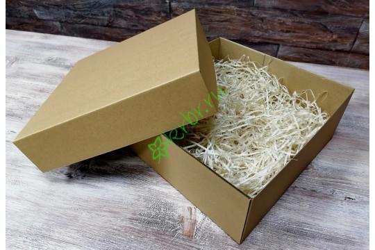 Подарочная коробка крафт кр/дно 20х20х8 см, шт