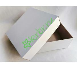 Подарочная коробка Белая 20х20х8 см, шт