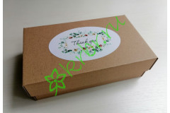 """Подарочная коробка  крафт """"Thank you"""" 17х10х5 см, шт"""