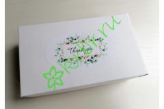 """Подарочная коробка  Белая """"Thank you"""" 17х10х5 см, шт"""