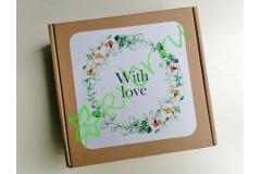 "Подарочная коробка Крафт ""With love"" 18х18х6 см, шт"