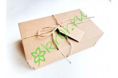 Подарочная коробка Крафт кр /дно 12х20х7 см с декором, шт