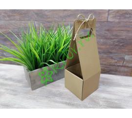 Подарочная коробка для цветов и подарков Крафт, 10х10х34 см, шт