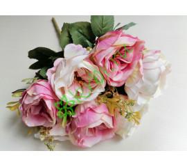 Букет пионов Маунтин бело-розовый, шт