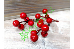 Ягоды красные веточка 6-7 см, шт