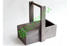 Ящик с ручкой для цветов и подарков Кузовок, графит
