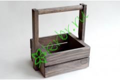 Ящик с ручкой для цветов и подарков Невада, графит