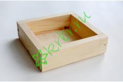 Ящик декоративный универсальный 15х15х4,5 см, натуральный
