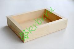 Ящик декоративный универсальный 15х20х4,5 см, натуральный