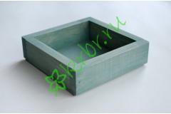 Ящик декоративный универсальный 15х15х4,5 см, темно-мятный
