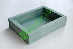 Ящик декоративный универсальный 15х20х4,5 см, темно-мятный