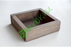 Ящик декоративный универсальный 15х15х4,5 см, пыльный серый