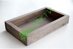 Ящик декоративный универсальный 15х25х4,5 см, пыльный серый