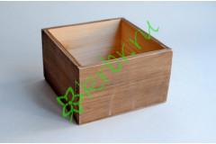 Кашпо ящик деревянный 15х15х9,5 см орех, шт