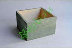 Кашпо ящик деревянный 15х15х9,5 см пыльный оливковый, шт