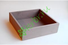 Ящик бокс  деревянный 25х25х7,5 см, пыльная роза