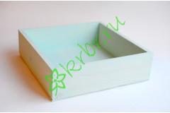Ящик бокс  деревянный 25х25х7,5 см, мятный