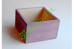Кашпо ящик деревянный 15х15х9,5 см, сиреневый