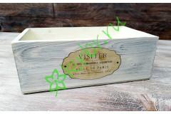 Ящик деревянный Сен-Мартен белый, шт