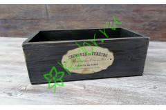 Ящик деревянный Сен-Мартен черный, шт