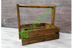 Деревянный ящик для подарков Техас с ручкой, орех